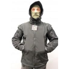 Куртка PAN-TEC Soft Shell з утеплювачем (чорна)