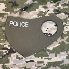 Маска з вишивкою Police