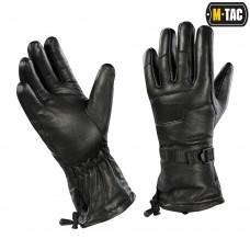 Рукавички зимові шкіряні чорні M-TAC
