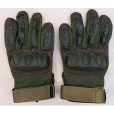 Тактичні рукавиці з м'яким захистом кісточок і пальців (олива)