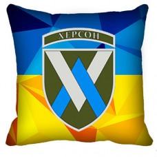 Декоративна подушка 11 Окрема Бригада Армійської Авіації (жовто-блакитна)