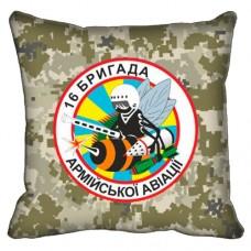 Декоративна подушка 16 Окрема Бригада Армійської Авіації (неформальний знак, піксель)