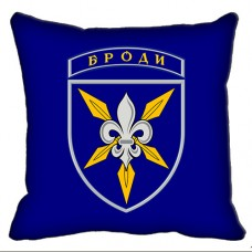 Декоративная подушка 16 Окрема Бригада Армійської Авіації (синя)