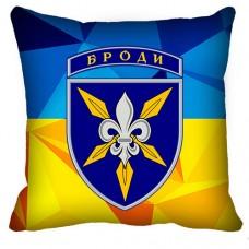 Декоративна подушка 16 Окрема Бригада Армійської Авіації (жовто-блакитна)