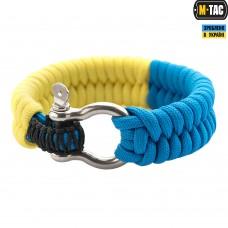Браслет паракорд M-TAC жовто-блакитний