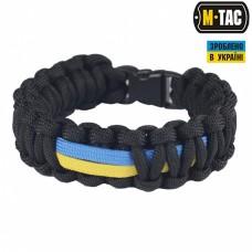 Браслет паракорд M-TAC Каратель чорний з прапором України