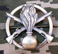 Беретний знак Механизовані війска ЗСУ (Піхота)