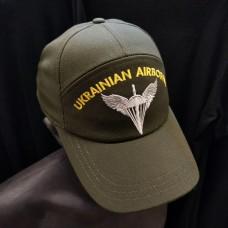 Бейсболка з вишивкою Знак ДШВ Ukrainian Airborne (олива)