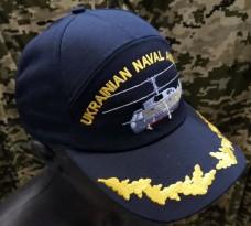 Бейсболка з вишивкою Морська Авіація України (темно-синя)