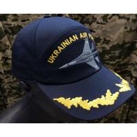 Бейсболка з вишивкою Повітряні Сили України (темно-синя)