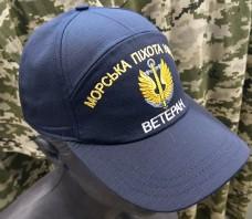 Купить Бейсболка з вишивкою Морська Піхота Ветеран (темно-синя) в интернет-магазине Каптерка в Киеве и Украине