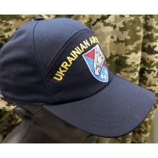 Бейсболка з вишивкою Ukrainian Airborne 25 Повітряно-Десантна Бригада (темно-синя)