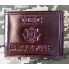Обкладинка МВС Ветеран посвідчення шкіра Prestige (коричнева з люверсом)