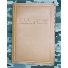 Обкладинка шкіряна Паспорт (руда)