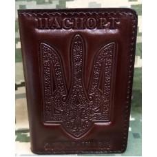 Обкладинка ID Паспорт шкіра prestige (коричнева)