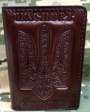 Купить Обкладинка ID Паспорт шкіра prestige (коричнева) в интернет-магазине Каптерка в Киеве и Украине