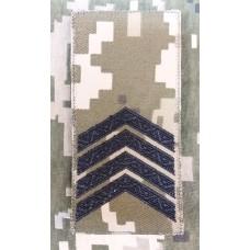 Погон Старший Сержант ЗСУ ММ14 Згідно Наказу 238 універсальний: муфта-липучка
