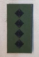 Погон Капітан ЗСУ Олива Згідно Наказу 238 універсальний: муфта-липучка
