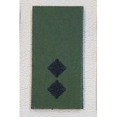 Погон Лейтенант ЗСУ Олива Згідно Наказу 238 універсальний: муфта-липучка
