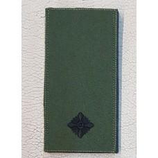 Погон Молодший Лейтенант ЗСУ Олива Згідно Наказу 238 універсальний: муфта-липучка