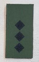 Погон Ст. Лейтенант ЗСУ Олива Згідно Наказу 238 універсальний: муфта-липучка