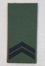 Погон Молодший Сержант ЗСУ Олива Згідно Наказу 238 універсальний: муфта-липучка