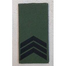 Погон Сержант ЗСУ Олива Згідно Наказу 238 універсальний: муфта-липучка