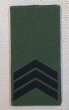 Погон Сержант ЗСУ Олива Згідно Наказу 238 липучка