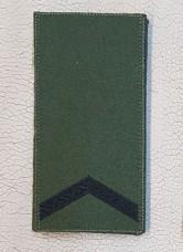 Погон Старший Солдат ЗСУ Олива Згідно Наказу 238 універсальний: муфта-липучка