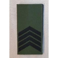 Погон Старший Сержант ЗСУ Олива Згідно Наказу 238 універсальний: муфта-липучка
