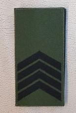 Погон Старший Сержант ЗСУ Олива Згідно Наказу 238 липучка