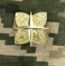 Емблема на комірець Військово-Топографічна Служба