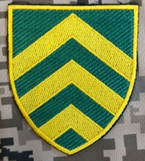 Нарукавний знак Управління по роботі з сержантським складом ЗСУ (кольоровий)