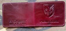 Обкладинка УБД новий знак 132 ОРБ ДШВ ЗСУ (марун, лакова)