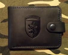 Шкіряний гаманець 24 бригада ім. Короля Данила (чорний)