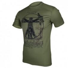 Футболка Coolmax Da Vinci-soldier (олива)