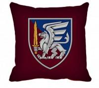 Декоративна подушка Новий знак 81 бригада ДШВ (марун)
