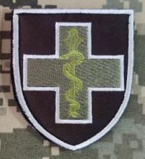 Нарукавний знак Командування Медичних сил Збройних Сил України (польовий варіант)