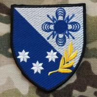 Нарукавний знак 121 окремий полк зв'язку (кольоровий варіант)