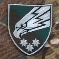 Нарукавний знак 25 ОПДБр (олива, срібло)