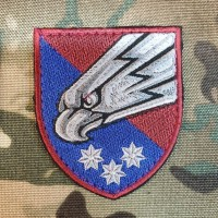Нарукавний знак 25 ОПДБр (кольоровий, марун)