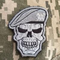Нашивка Череп в береті Гірська піхота ЗСУ