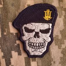 Нашивка Череп в береті ВМСУ