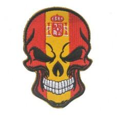 Нашивка прапор Іспанії (череп)
