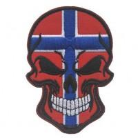 Нашивка прапор Норвегії (череп)