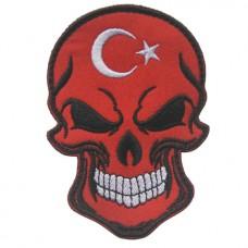 Купить Нашивка прапор Туреччини (череп) в интернет-магазине Каптерка в Киеве и Украине