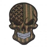 Нашивка прапор США (череп) Хакі
