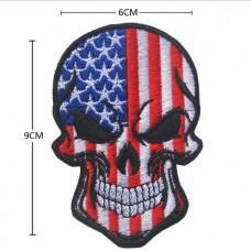 Нашивка прапор США (череп)