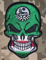 Нашивка прапор Ічкерії (череп)