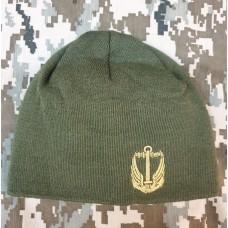 Шапка з вишивкою Морська Піхота олива